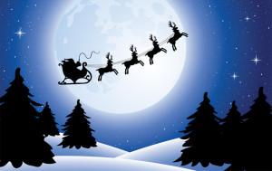vector xmas holiday background with santa