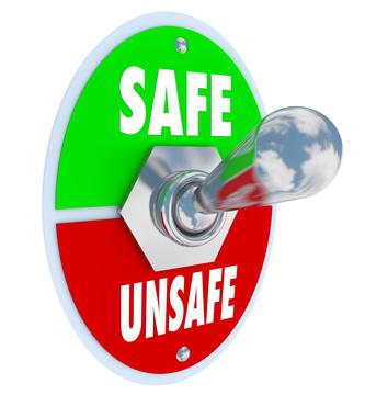 Safe or Unsafe Toggle Switch Choose Safety vs Danger