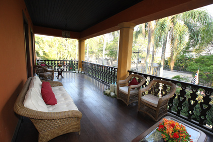 porch with lounge in farm house, brazil