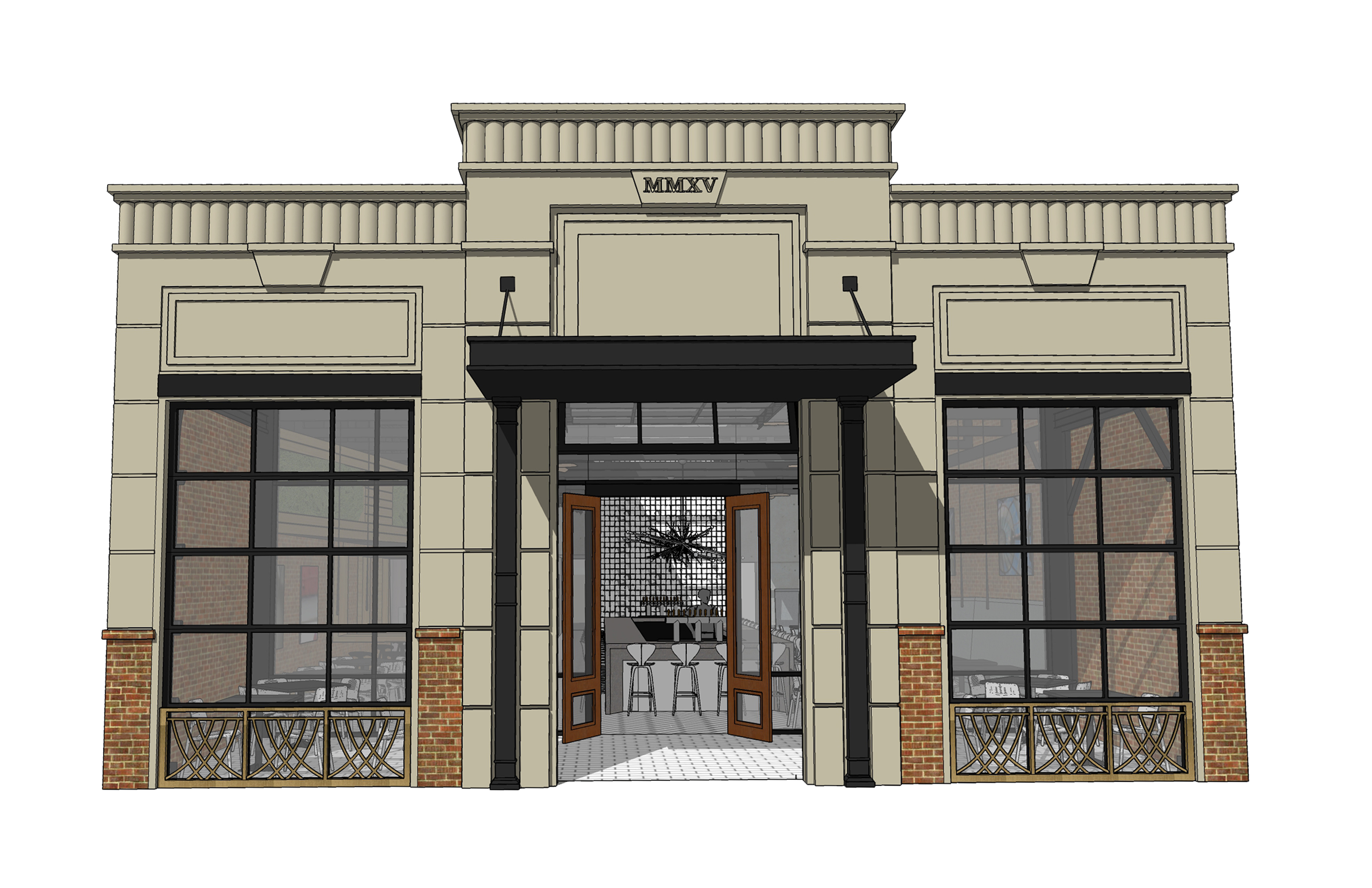 Rendering of Centre Street Amelia Tavern