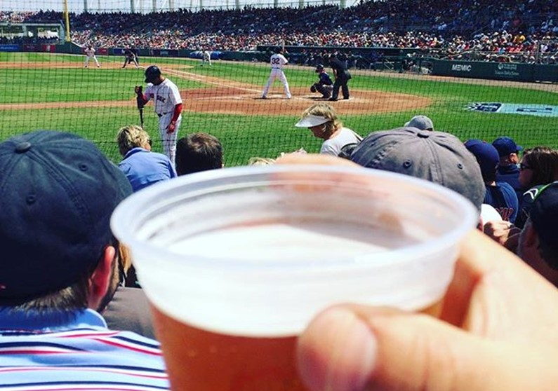 Major League Baseball, Canadian Blue Hairs, And Mean Biker Gal All Part Of Guy's Day Out
